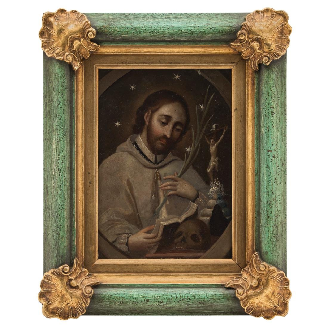 SAINT JOHN OF NEPOMUK. MEXICO, 19th CENTURY. Oil on