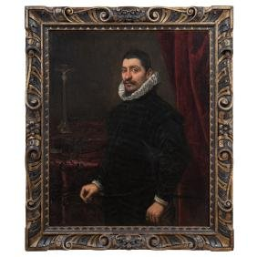 Domenico Tintoretto (italy, 1560-1635). Portrait Of A