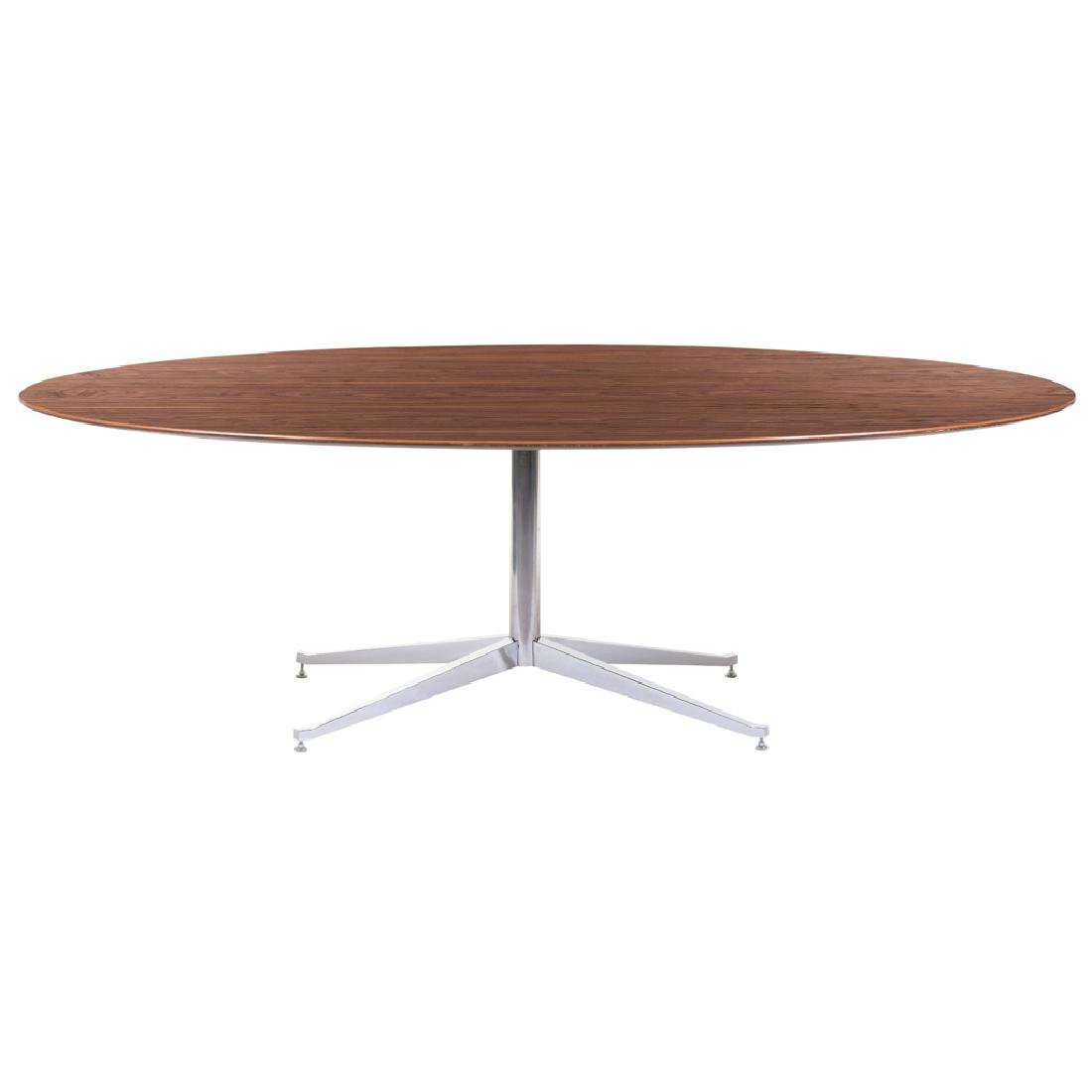 Florence Knoll for Knoll. Chromed metal dining table
