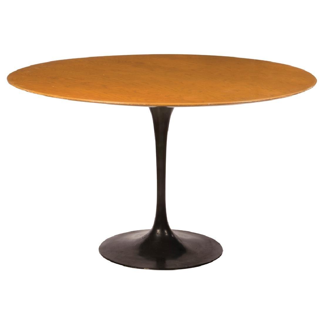 Eero Saarinen for Knoll international. Black lacquered