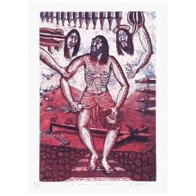 IXRAEL MONTES, La ultima tentacion, Signed, Lithograph