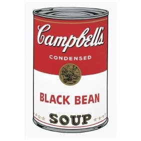 ANDY WARHOL, Campbell's black bean soup, With Fill in