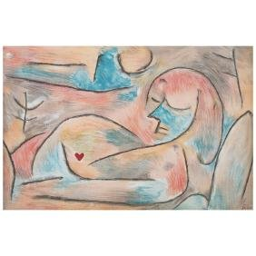 PAUL KLEE, Sommeil d'hiver (Winter's sleep), from