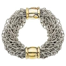 A TANE sterling silver and vermeil bracelet.