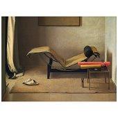 CLAUDIO BRAVO, La chaise Le Corbusier, Signed and dated