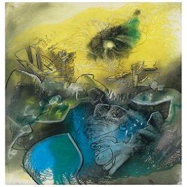 ROBERTO MATTA, Untitled, ca. 1973, Unsigned, Oil on