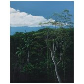 TOMAS SANCHEZ, Bosque con nube, Signed and dated 86,