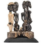 SLAVE TRADE. IVORY COAST. CARVED WOOD AND PIGMENTS,