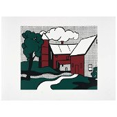 ROY LICHTENSTEIN, Red barn, Signed and dated 69,