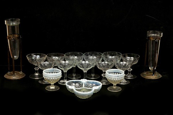 13: Sixteen Glass and Crystal decorative objects
