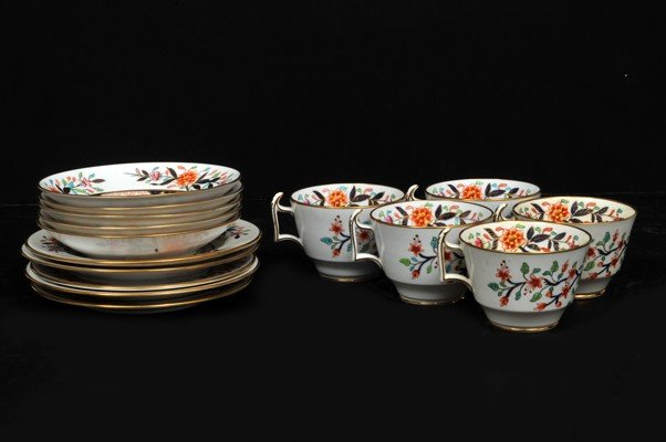 12: Set of cups and saucers