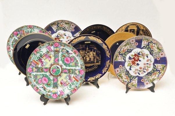 19: Nine decorative plates.