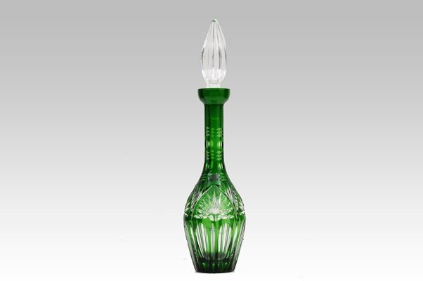 13: German glass decanter