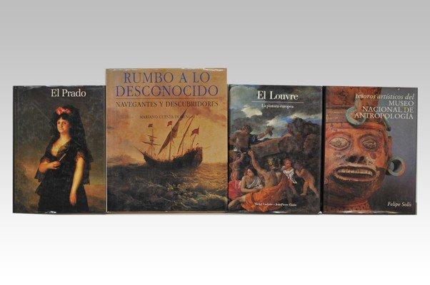 """5: Cuatro libros. a) """"El Prado"""". Editorial Aguilar. Mad"""