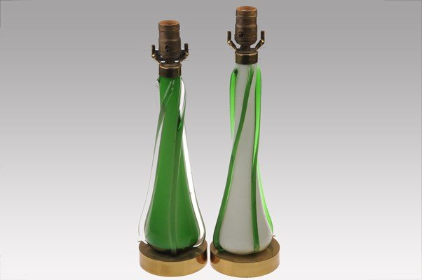 Couple of table´s lamp made in Murano Glass.