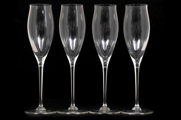 Four  Champagne glasses.Austrian glass.