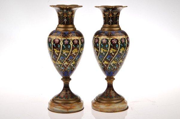 Two  Cloisonné vases.