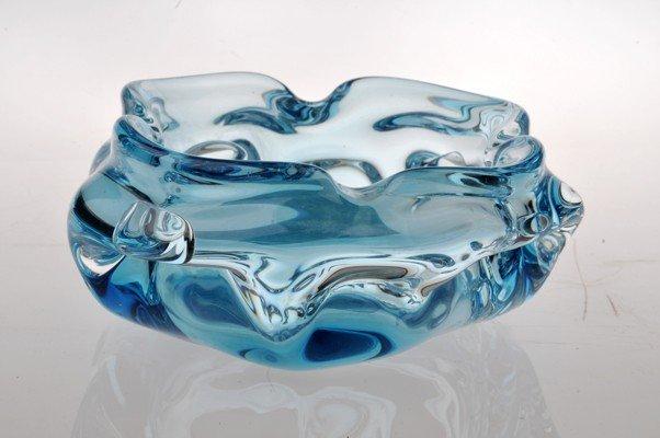 Murano glass Astray, Italian, blue color