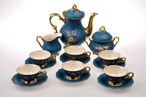 Thea set for six persons made in Bavaria Porcelain