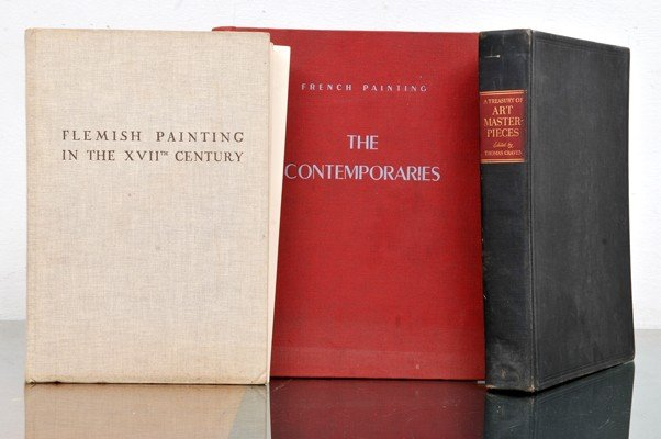 Three books of art and painting