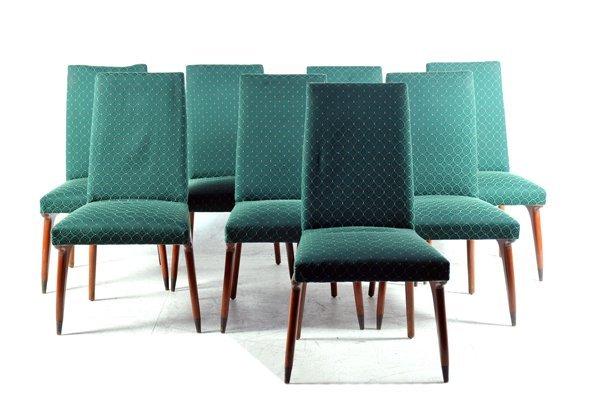 Juego de sillas. Estructuras de madera. Con respaldos y