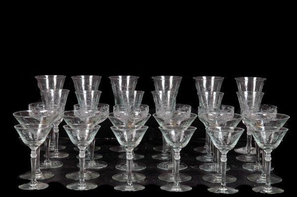 Lote de copas. Elaboradas en cristal. Diseños a la