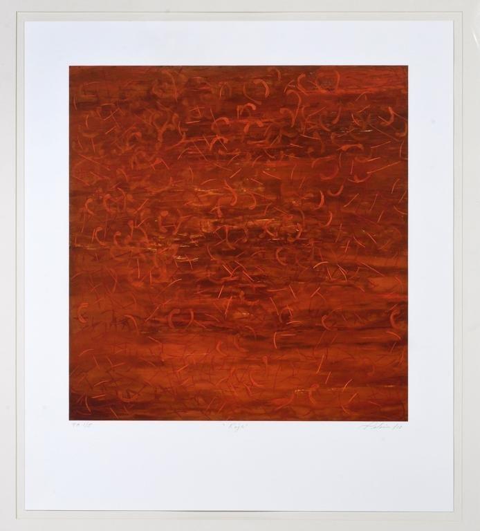 IRMA PALACIOS a) Rojo Firmado 10. Gicleé sobre papel PA