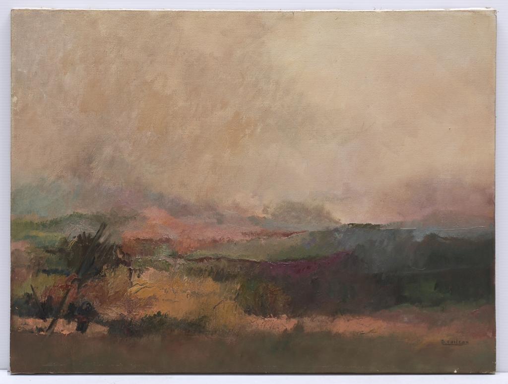 SUSANA CARLSON, Paisaje, Firmado. Óleo sobre tela, 60 x