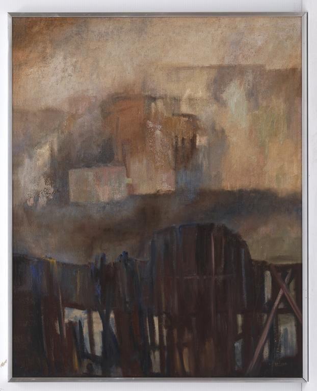 SUSANA CARLSON, Paisaje, Firmado. Óleo sobre tela, 98 x