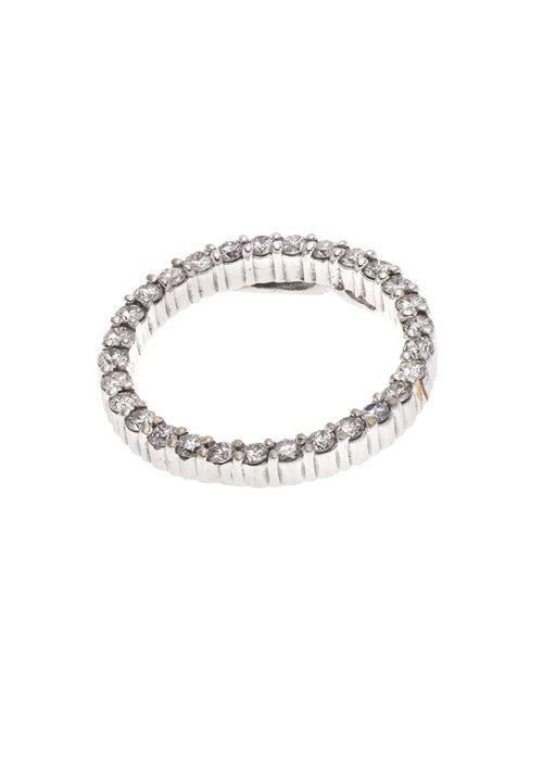 DIJE EN ORO BLANCO DE 14K CON DIAMANTES. 29 Diamantes