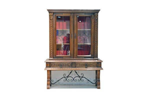 Gabinete. Estilo Renacentista francés. En madera de