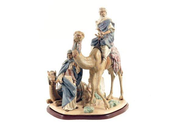 Beduinos con camellos