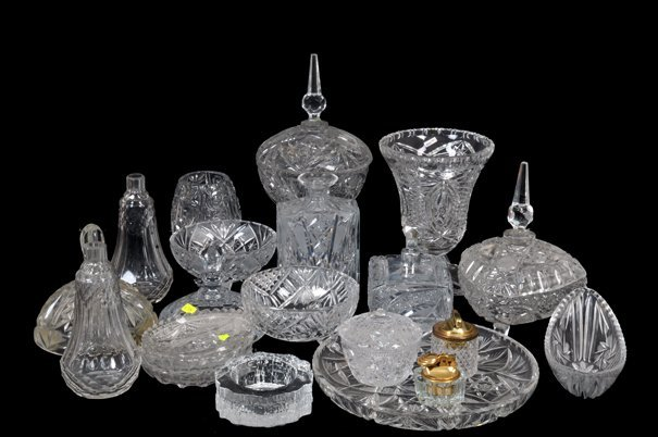 Lote de cristal y vidrio