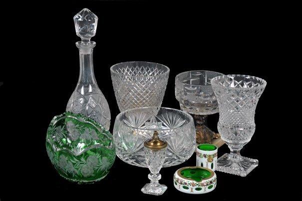 Lote de cristalería. Origen checoslovaco y alemán.