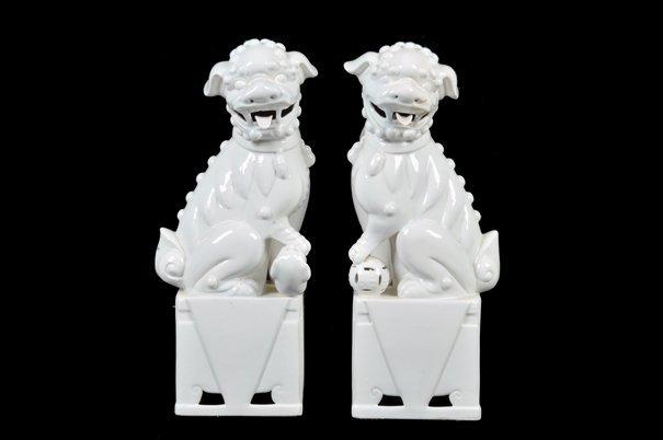 Par de figuras de leones guardianes. Origen chino.