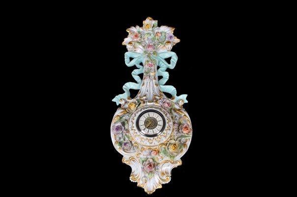 Reloj de pared. Origen italiano. Estilo Luis XV. En