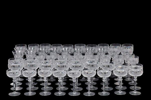 Juego de copas Elaboradas en cristal cortado. Diseños