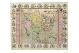 Haven, John. Map of the United States and Mexico
