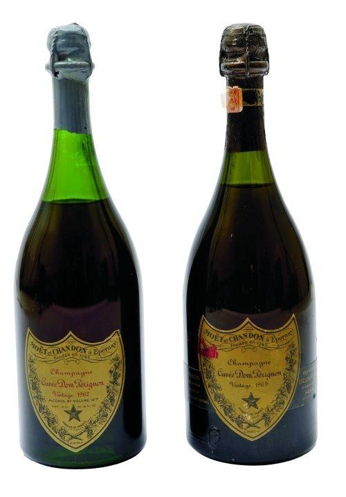Cuvée Dom Pérignon.  Vintage's 1962 y 1969.