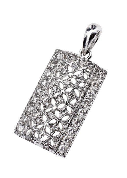 DIJE CON DIAMANTES EN ORO BLANCO DE 18K. 22 Diamantes