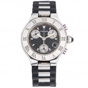 Reloj Cartier Chronoscaph 21 Caja En Acero Con