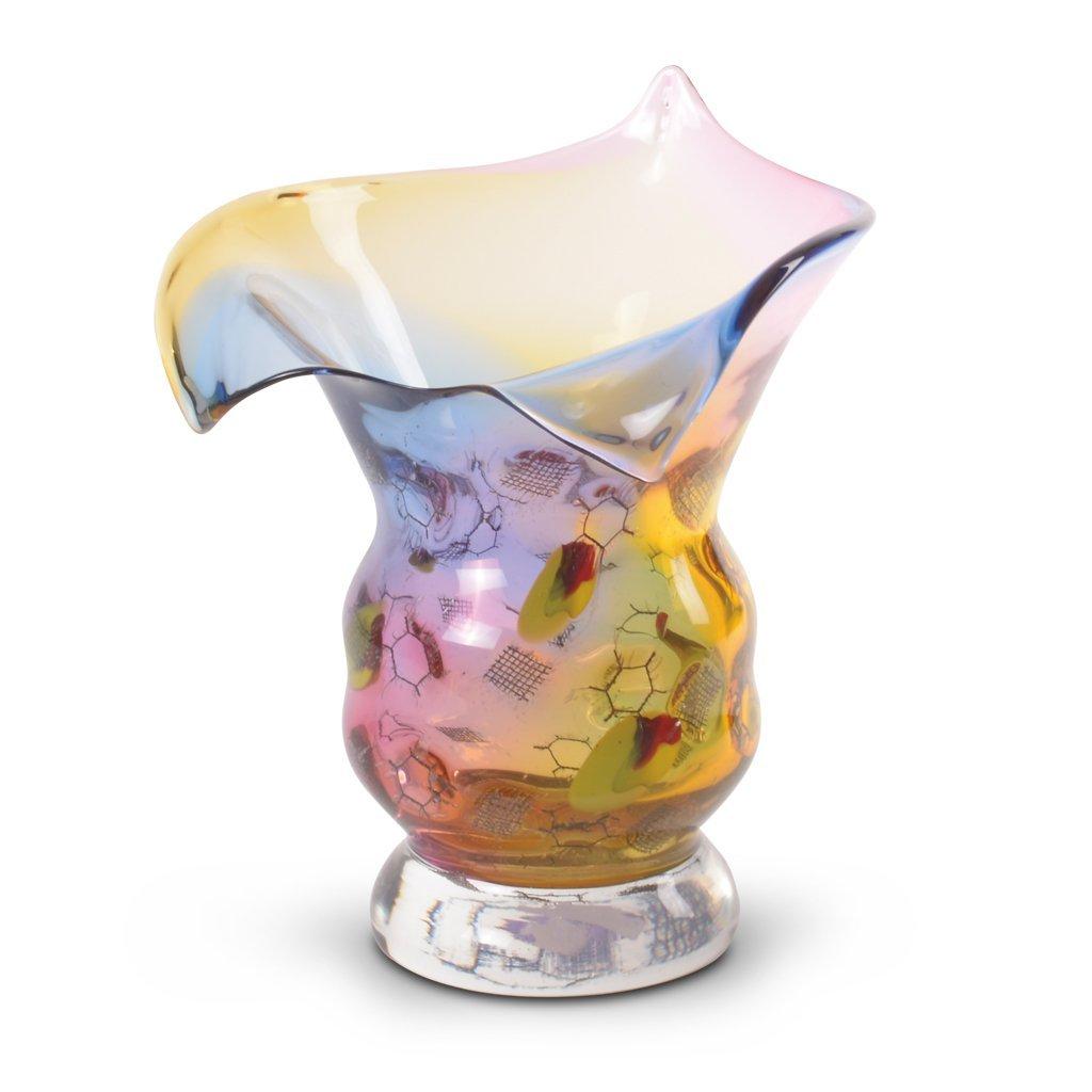 Florero. Años 30. Elaborado en cristal esmerilado.