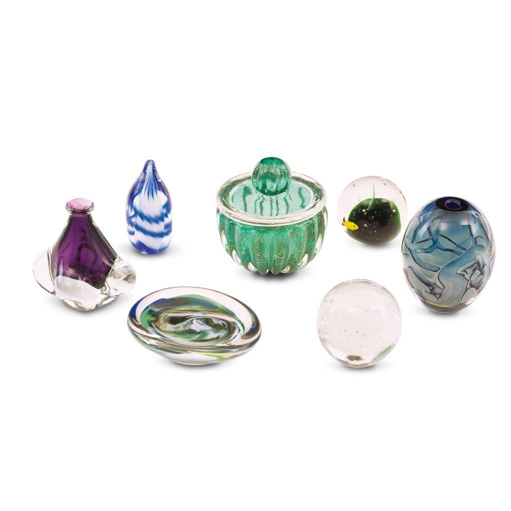 Artículos decorativos. Años 70. En cristal tipo