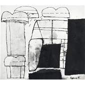 MIGUEL ANGEL ALAMILLA, No title, Signed and dated 85,