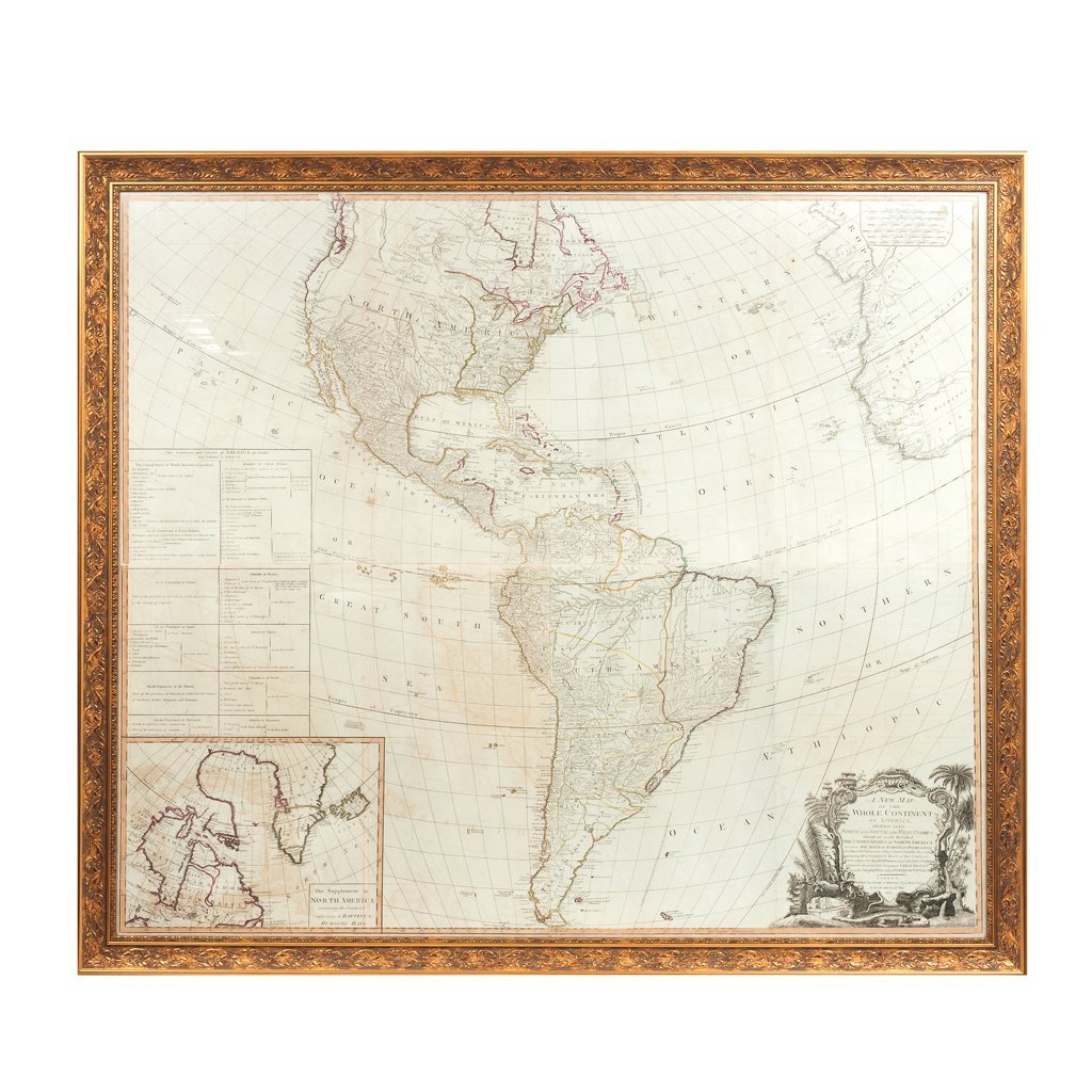 A NEW MAP OF THE WHOLE CONTINENT OF AMERICA. Engraved