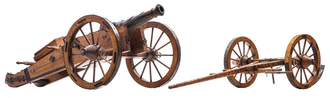 MODEL CANNON. France, 19th century. Napoleonic style.
