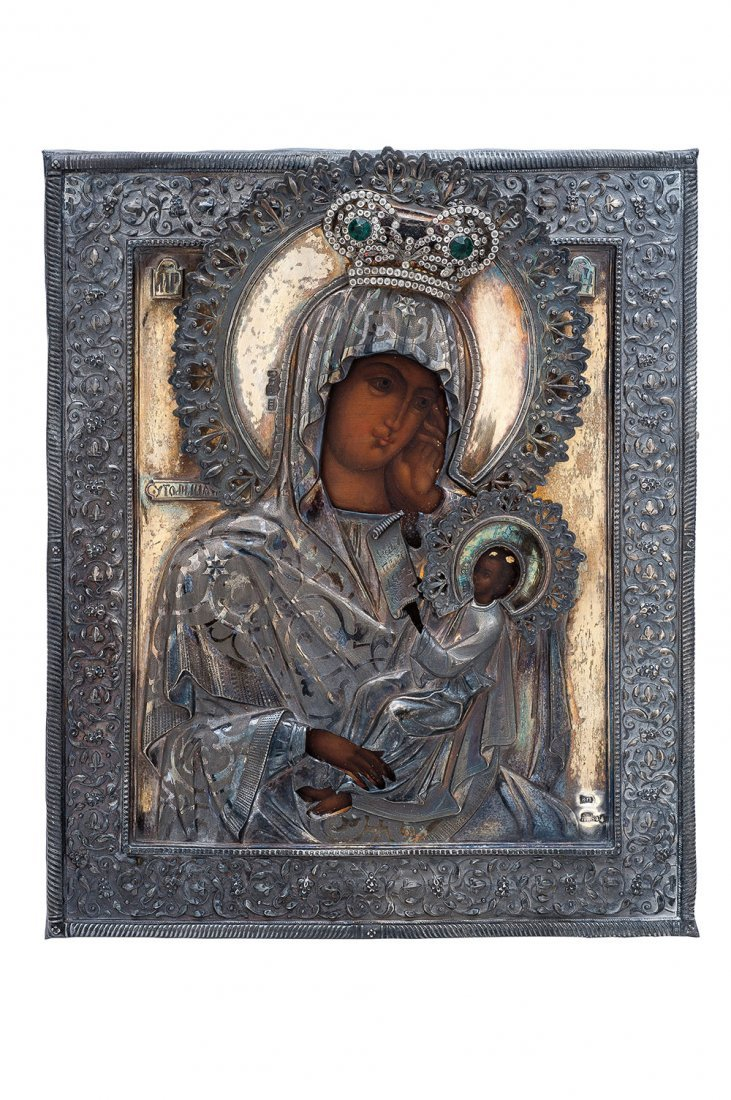 ICON. RUSSIA, second half of the 19th century. OUR LADY