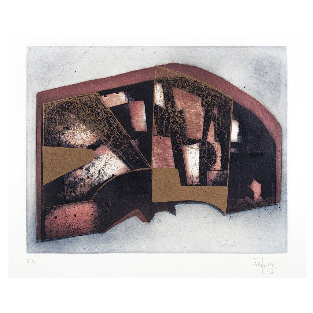 MANUEL FELGUeREZ, Untitled, Signed and dated 03,
