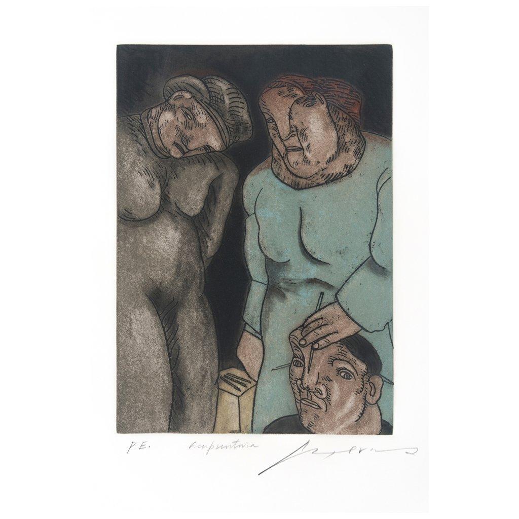 JOSe LUIS CUEVAS, Acupuntura, Signed, Engraving P.E.,