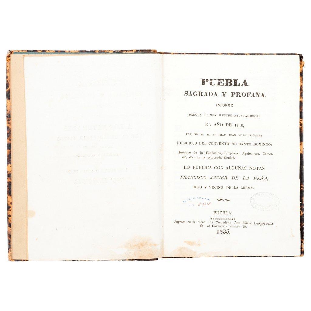 Peña, Francisco Javier de la. Puebla Sagrada y